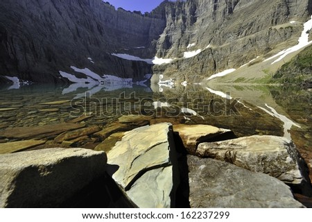 Iceberg Lake, Glacier National Park, Montana, USA - stock photo