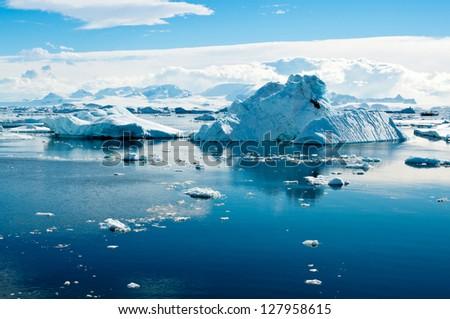 Iceberg landscape - stock photo
