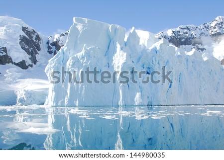 Iceberg off coast of Antarctica - stock photo