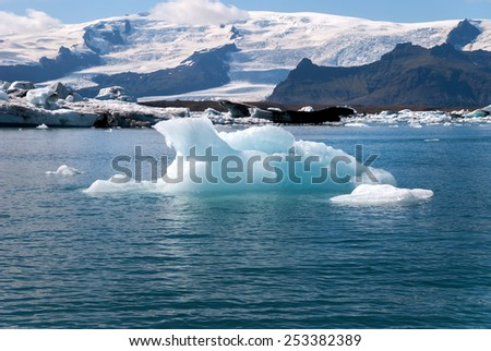 iceberg on the jokulsarlon Lake in Iceland