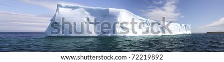 Iceberg panorama - stock photo