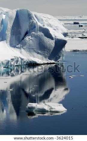 Iceberg reflections - stock photo