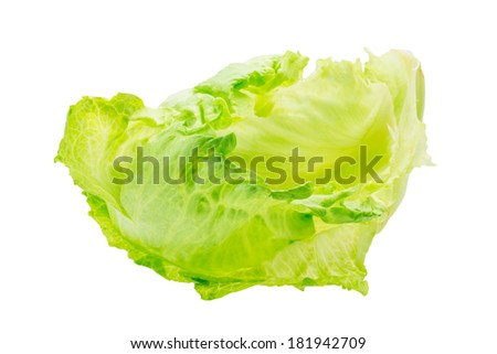 Iceberg salad - stock photo