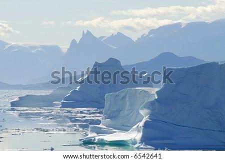 Iceberg Silhouette - stock photo