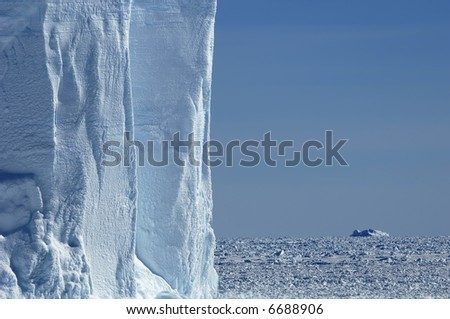 Iceberg wall in Antarctica