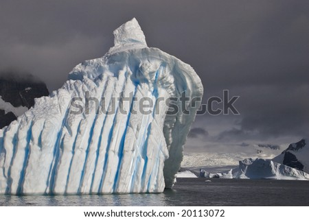 Icebergs come in an endless variety of shapes - stock photo