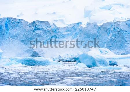 Icebergs in Antarctica - stock photo