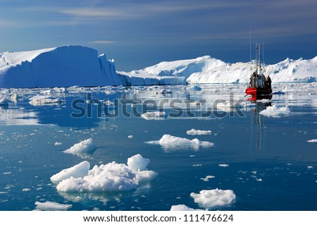 Icebergs in Disko Bay Greenland