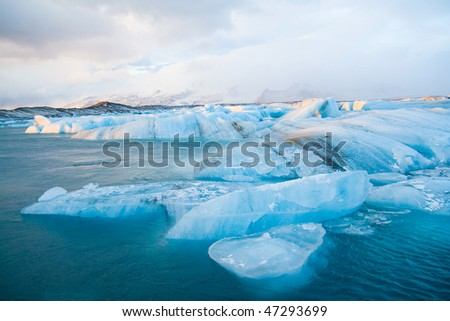 Icebergs in Jokulsarlon - stock photo