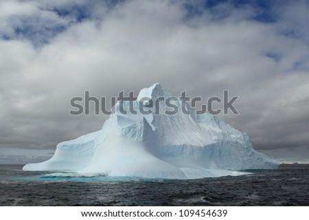 Icebergs in the Antarctica - stock photo