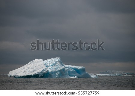 Icebergs off the coast of Paulet Island, near the tip of the Antarctic Peninsula.