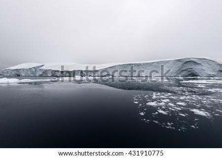 Icebergs on arctic ocean, ilulissat ice fjord, Greenland - stock photo
