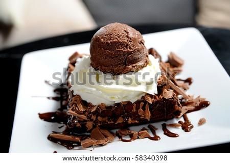 icecream desert - stock photo