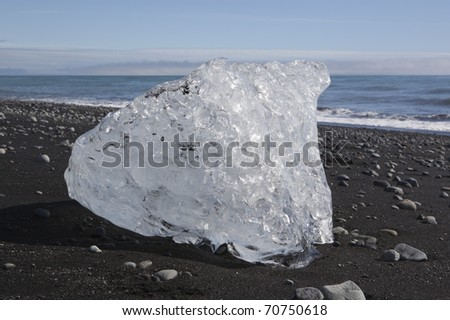 Icecube in Iceland - stock photo