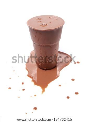 Iced Chocolate Milk - stock photo