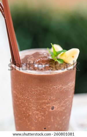 Iced chocolate smoothie - stock photo