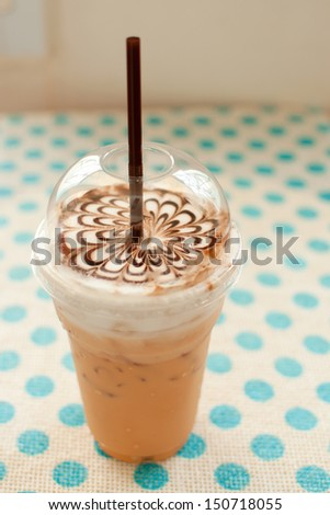 iced coffee on table - stock photo