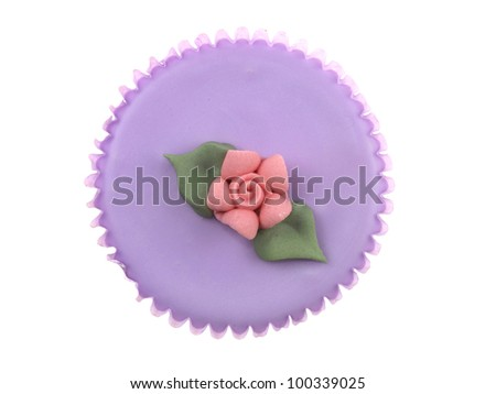 Iced Cup Cake - stock photo