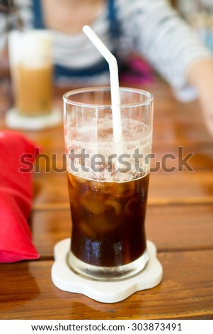Iced Espresso with water
