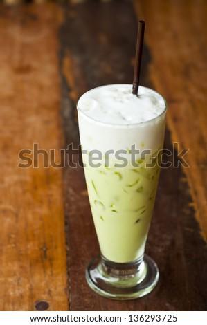 Iced green tea. - stock photo