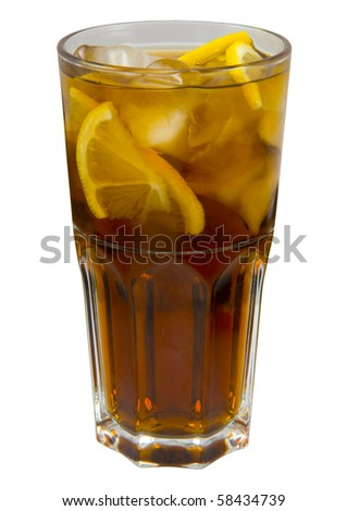 iced tea with lemon and ice