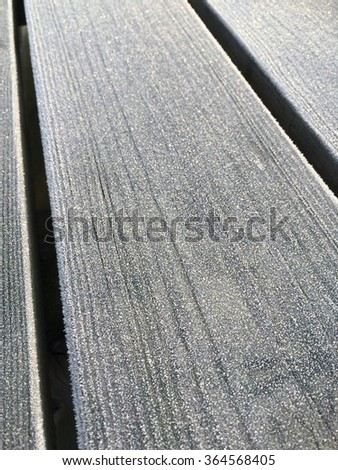 Iced winter wood background.