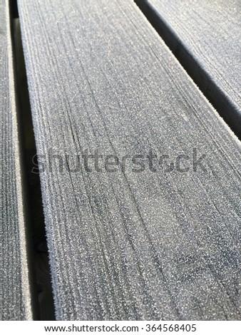 Iced winter wood background.  - stock photo