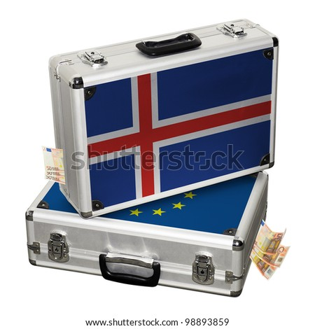 Iceland financial crisis. Financial assistance. - stock photo