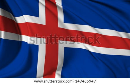 Iceland flag HI-RES collection