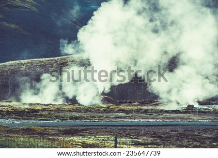 Iceland Geyser Thermal  - stock photo