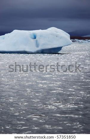Iceland iceberg - stock photo