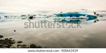 Iceland - Jokulsarlon lagoon - stock photo