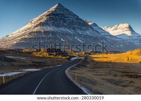 Iceland Landscape :  Winter Iceland Landscape - stock photo