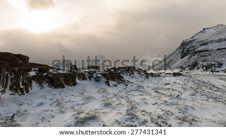 ICELAND LANDSCAPE : Winter Landscape - stock photo