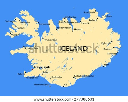 Iceland Map Stock Images RoyaltyFree Images Vectors Shutterstock - Iceland map