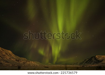 Iceland / Northern lights  - stock photo