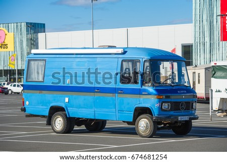 ICELAND SEPTEMBER 15 2015 Mercedes Benz Stock Photo Royalty Free