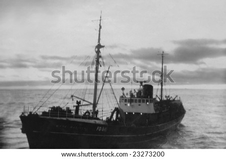 ICELAND - 1957 - The Wyre Mariner FD34 off the coast of Iceland