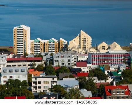 Icelandic architecture - stock photo