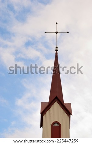 Icelandic Church Cross - stock photo