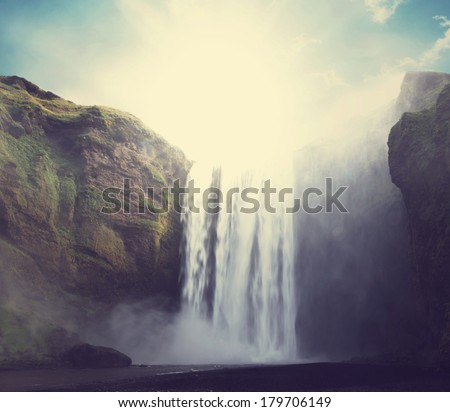 icelandic dramatic landscapes - stock photo