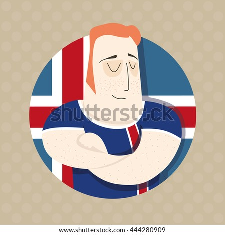Icelandic football player  - stock photo