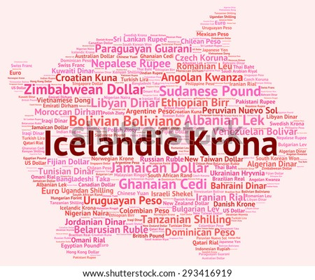 Icelandic Krona Showing Foreign Currency And Currencies