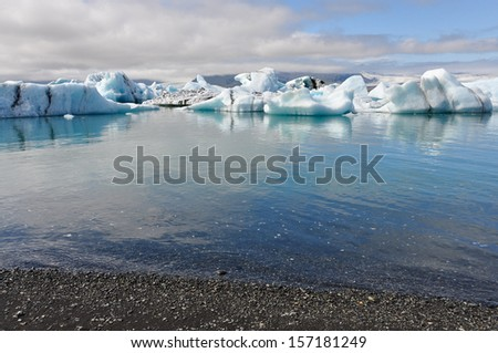 Icelandic lake and icebergs - South Iceland