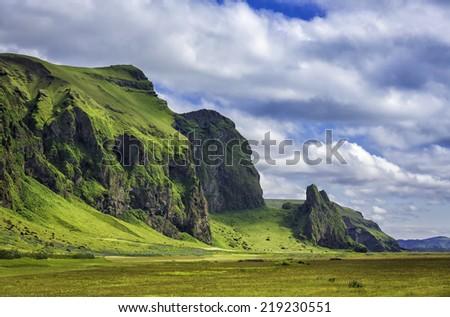Icelandic mountains landscapes - stock photo
