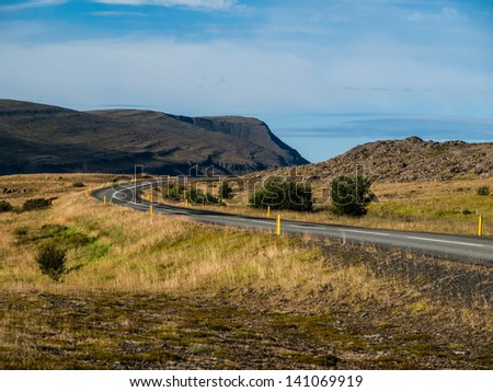 Icelandic road - stock photo