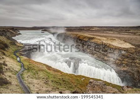 Icelandic Waterfall - stock photo
