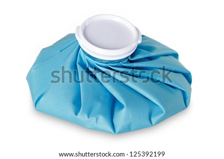 Icepack isolated with clipping path on white background - stock photo
