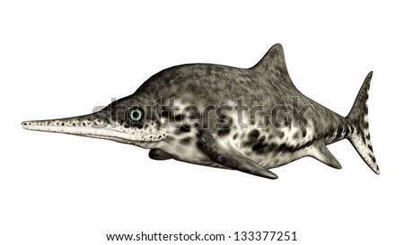Ichthyosaur Stenopterygius Computer generated 3D illustration - stock photo