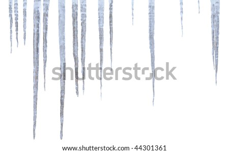 icicle - stock photo